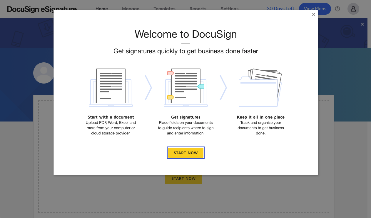 DocuSign SaaS onboarding